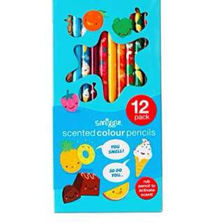 Smiggle Scented Colour Pencils