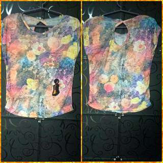 👚 New Floral Design Cotton Blouse with Sequin Patch