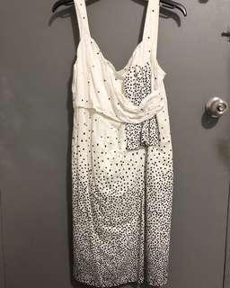 White Polka Dress