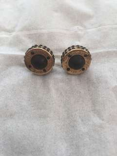 Mimco Black and Gold Stone Earrings