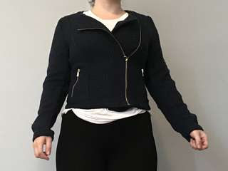 Navy crop jacket