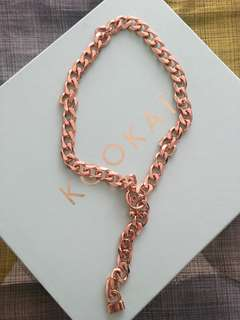 Kookai rose gold chain necklace