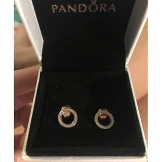 PANDORA Rose Gold Forever Earring Studs NEW IN BOX RRP 79