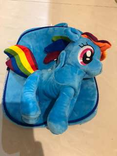 My little pony bag with plush toy