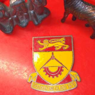 Singapore Polytechnic metal badge. A Memory. 1970.