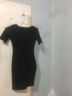 Bodycon Black Dress XS