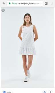Huffer dress white size 10