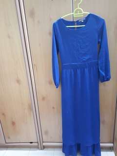 [RM 18 includes postage] Poplook Electric Blue Double Layer Dress