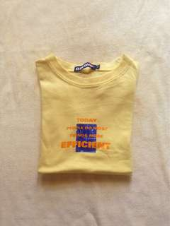 Yellow round neck tee