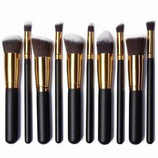 Kabuki 10pcs soft Make up Brushset
