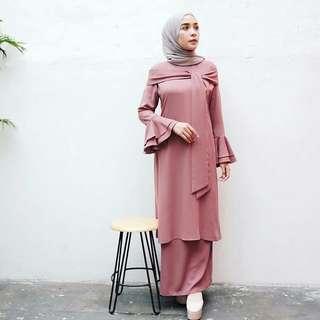 IKN - 0318 - Setelan Busana Wanita Sabana Set Tunik Plus Skirt