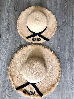 Mother & Daughter sun hats/ straw hats