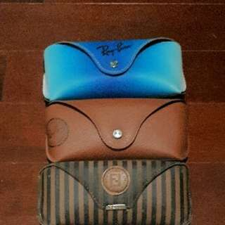 RayBan and Fendi cases