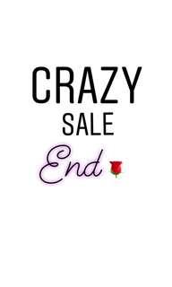 Crazy sale's end
