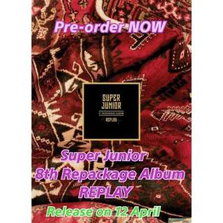 Super junior 8th Repackage Album - REPLAY