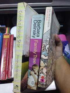 3 novel books
