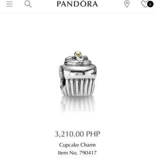 Authentic pre-loved Pandora Cupcake charm