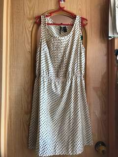 Mango white polkadot Sunday dress