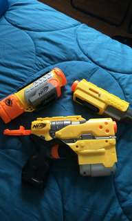Nerf buster gun with spare parts