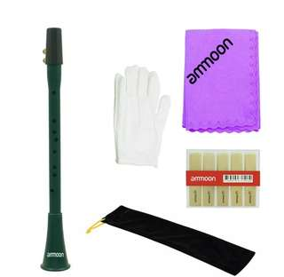 Pocket Clarinet Ammoon F Scale w Reeds, Cleaning Cloth, gloves & carrying bag
