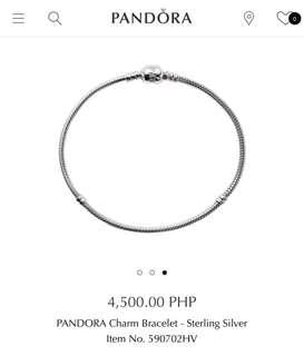 Authentic pre-loved Pandora Charm Bracelet (18cm)