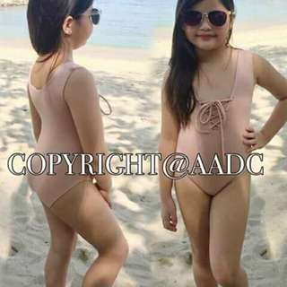 EYELET SWIMSUIT (GANDA NG TELA) FIT 5-8. YRS. OLD ( D PWEDE SA MATABA) NYLON FABRIC