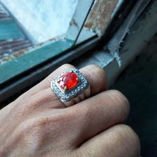 Batu cincin natural Orange Sapphire lke padparacha