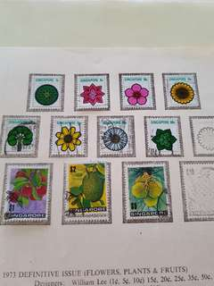 Singapore Stamps 1973 Defensive Flowers Collection