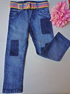 Snoopy Denim Pants with Belt