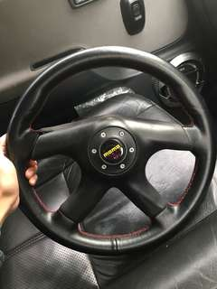 Momo Leather Steering