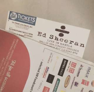 Ed Sheeran Divide Tour (discounted) Patron B tickets