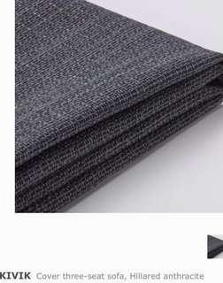 Kivik 3-seater Sofa Cover Hillared Anthracite