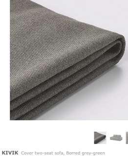 Kivik 2-seater Sofa Cover Borred Grey-Green