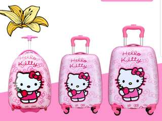 Instock- Hello Kitty Luggage- kid troller/ 19""