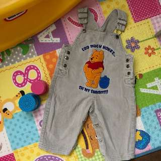 Winnie the Pooh Curdoroy Overalls - Light Brown