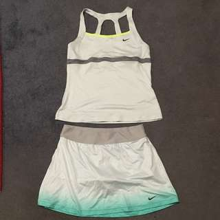Light Green Nike Tennis Outfit Girl's XL or Women's S