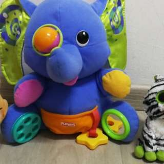 Elephant playskool plush toy