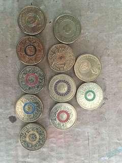 Australian $2 coins