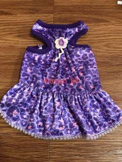 Purple Leopard Flower Size 0 Brand New Dress For Dog / Rabbit / Small Animal /Pets Clothes