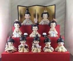 Precious Moments 日本女兒節公仔三套,不包展示盒