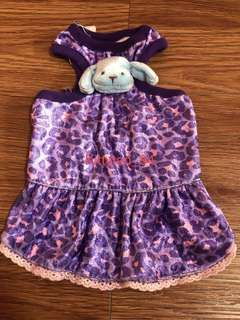 Purple Leopard Blue Dog Size 0 Brand New Dress For Dog / Rabbit / Small Animal / Pet Clothes