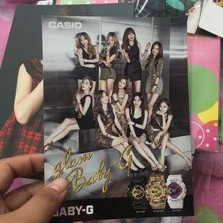 SNSD OT9 Casio Glam postcard