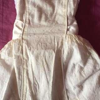 Light Yellow BloomB Dress (0-3 Mths)