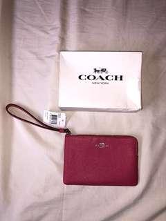 AUTHENTIC Coach Leather Wristlet