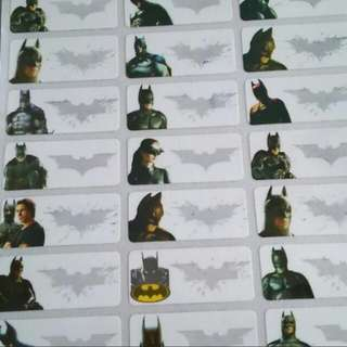 Batman waterproof name sticker label