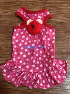 Pink Flower Bear Size 0 Brand New Dress For Dog / Rabbit / Small Animal/ Pet Clothes