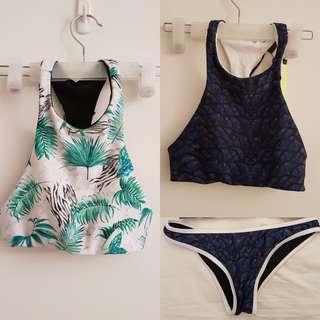 Ocha & Oak Crop Top and Bikini Bottom