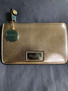 Dune London Pouch -Kimanna Gold with dustbag