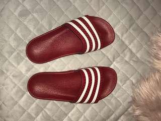 Adidas slides red