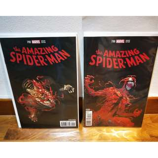 Amazing Spider-Man #795 and 796 Variant Set NM Red Goblin Appearance KEY